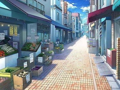 Daytime Allyway Cenario Anime Casa Anime Cenario Para Videos