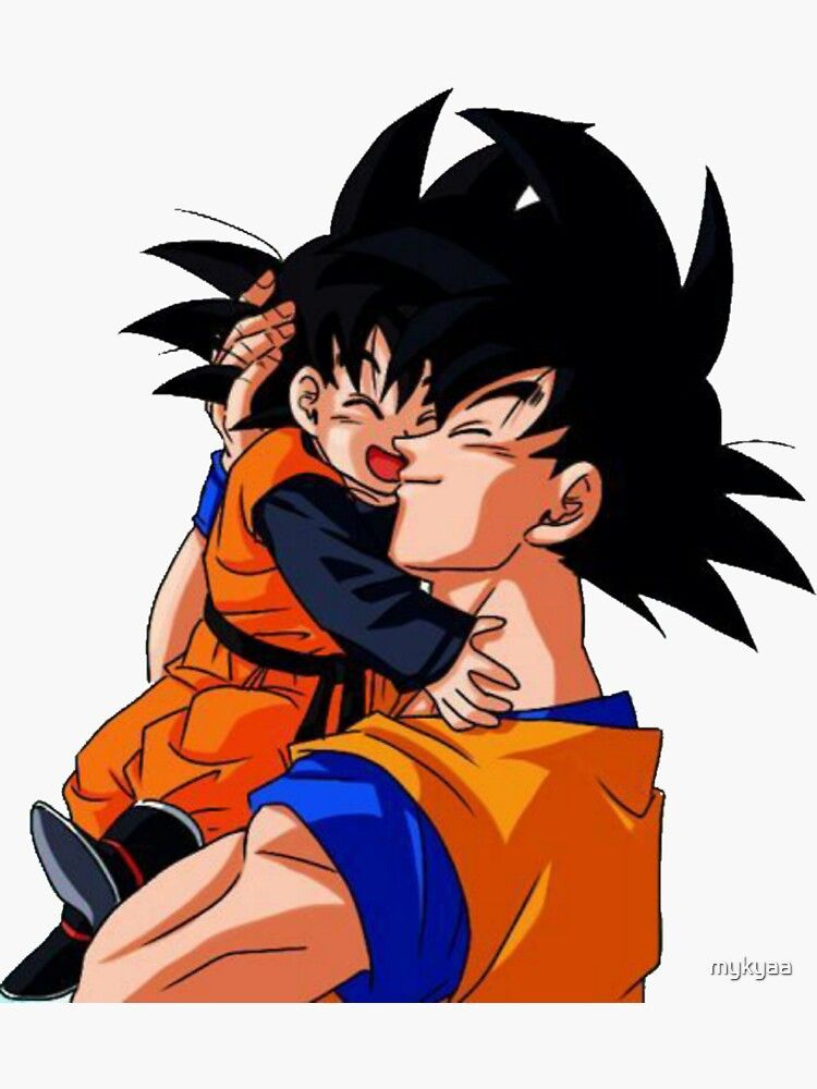 Sticker Goku Et Goten Sticker Par Mykyaa Redbubble In 2021 Anime Dragon Ball Super Dragon Ball Goku Anime Dragon Ball