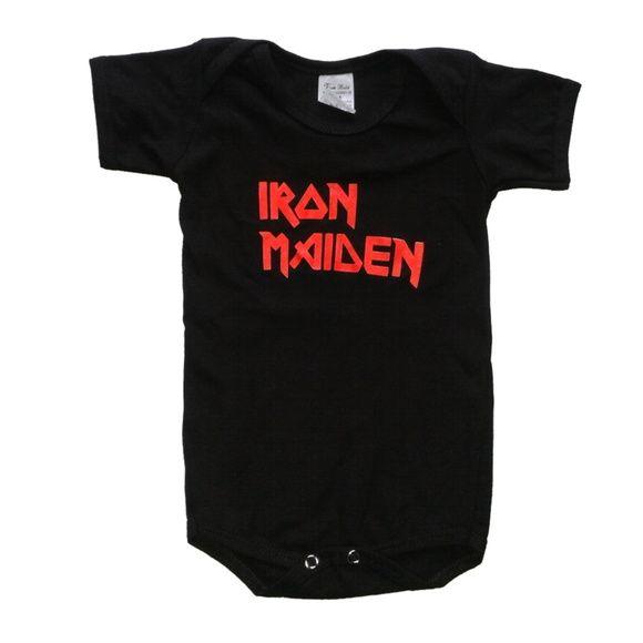 Por apenas R$19,90 a unidade de cada body!     Body Iron Maiden - Body de bandas R$ 19,90  ou 4x de R$ 5,34 no cartão