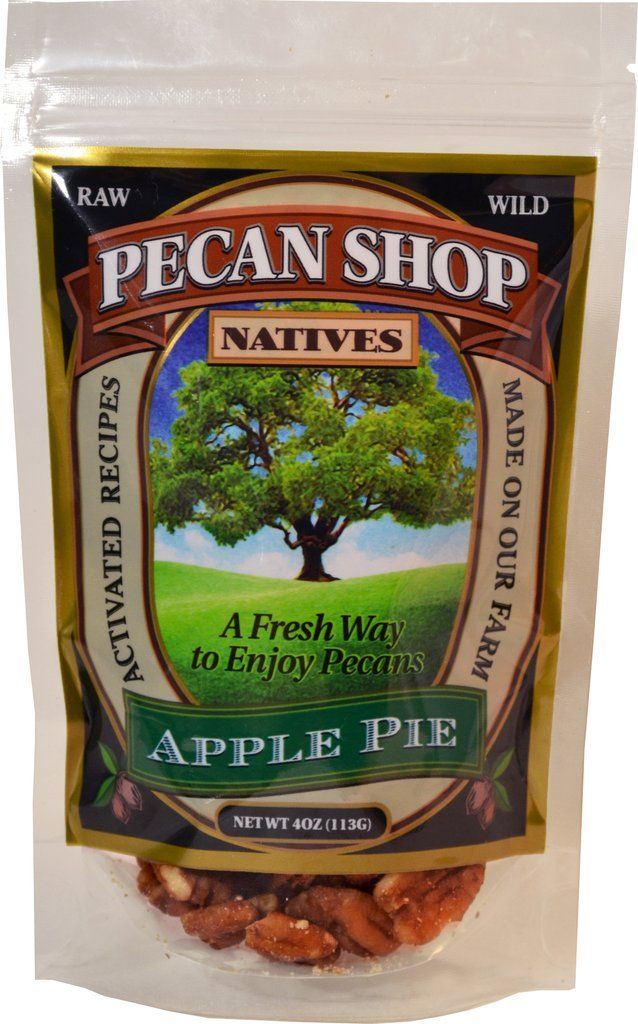 Texas Native Pecan Halves Sprouted Apple and Wildflower