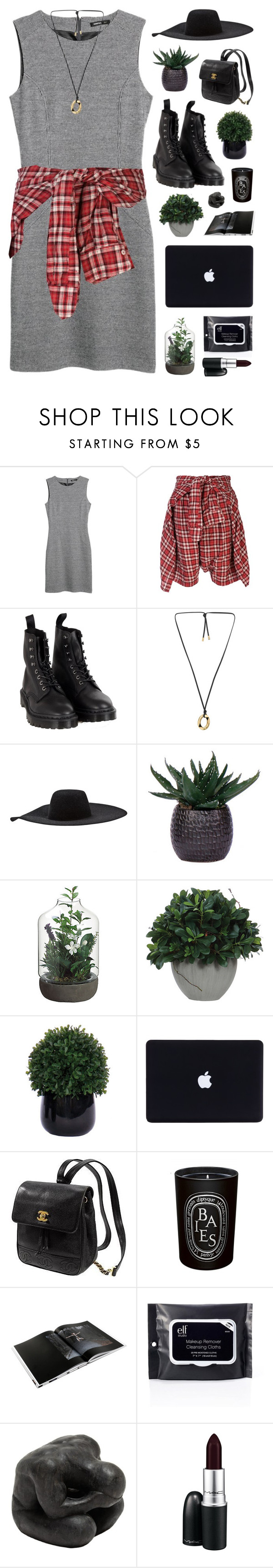 """vamp it up"" by karm-a ❤ liked on Polyvore featuring MANGO, R13, Dr. Martens, Michael Kors, Lanvin, Lux-Art Silks, Kate Spade, Diptyque, GESTALTEN and Oly"