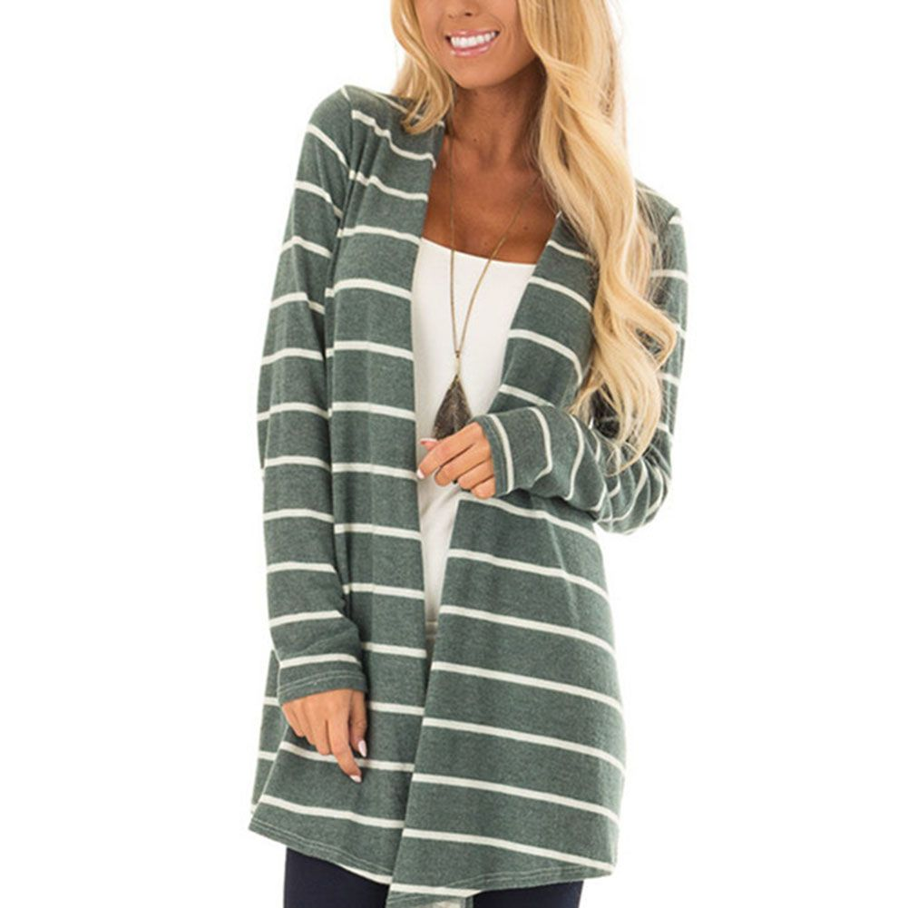 US Women Long Cardigan Coat Long Sleeve Casual Loose Sweater Jacket Chic Autumn