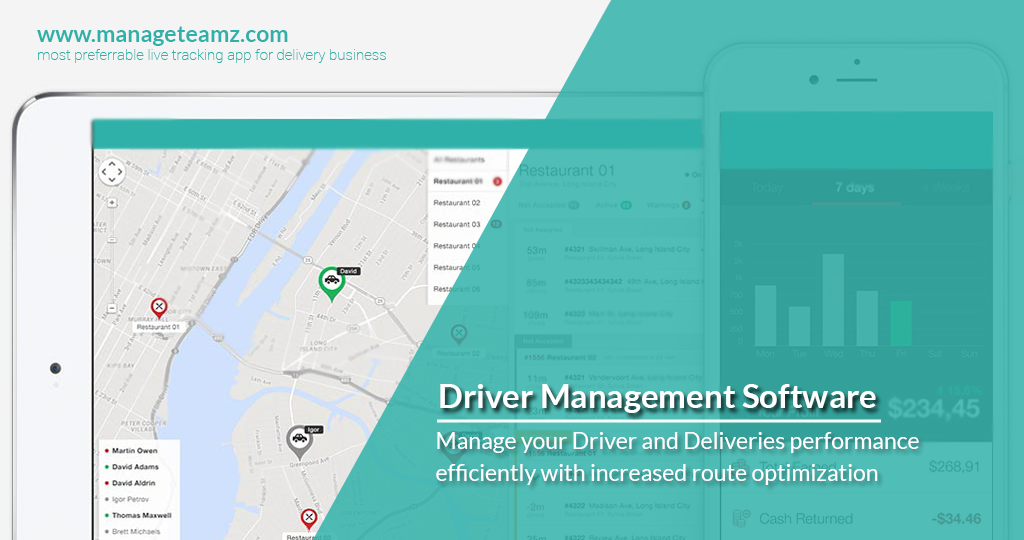 Manage your Driver and Deliveries performance efficiently