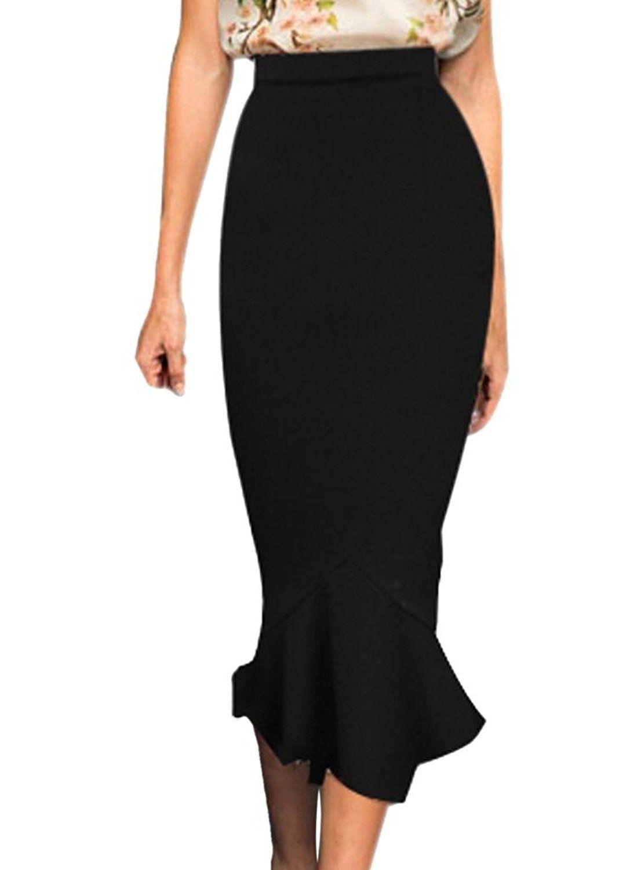 d174de100 VfEmage Women's Vintage High Waist Wear To Work Bodycon Mermaid Pencil Skirt  ** This is