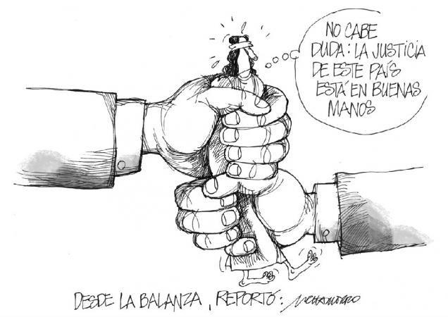 """Les dejamos con nuestra caricatura de hoy: """"Desde la balanza"""""""