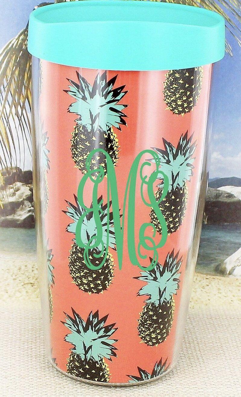 0a2377afe3a Pineapple Tervis Style Mug // Pineapple Mug // Beach Cup // Preppy Mug