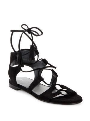 08fe3404070b STUART WEITZMAN Roman Suede Flat Sandals.  stuartweitzman  shoes  flats