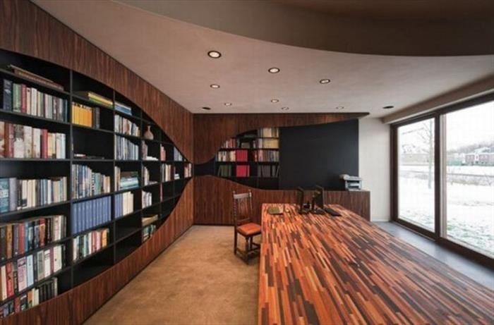Bibliotecas casas y ambientes Pinterest Bibliotecas y Casas - bibliotecas modernas en casa