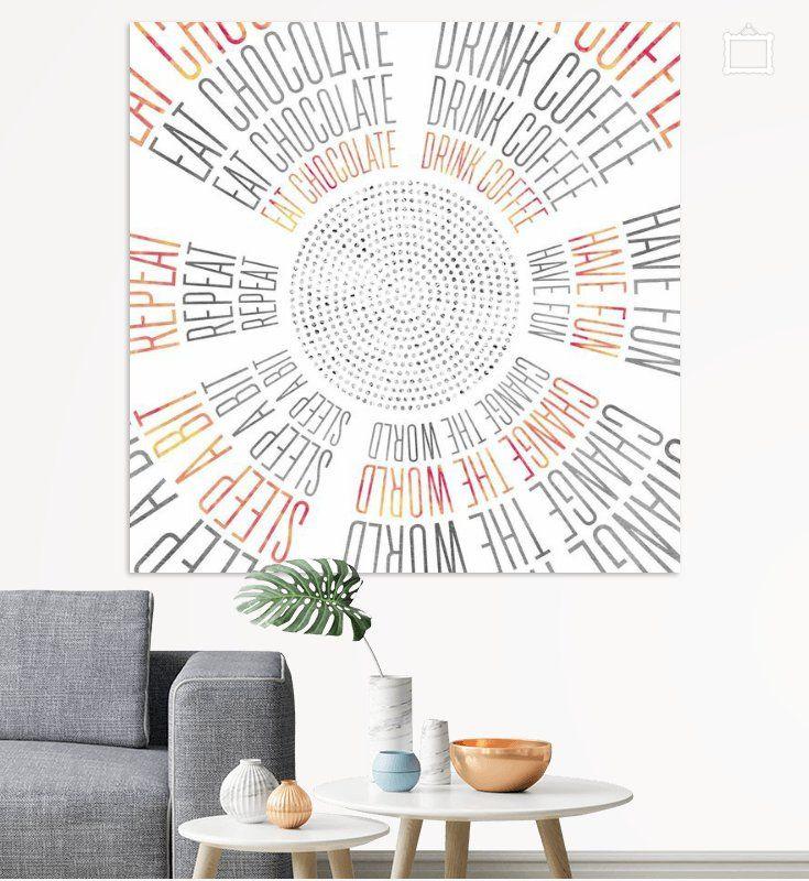 Graphic Art Life Circles Poster Melanie Viola Poster