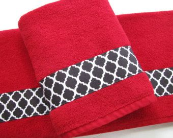 red and black zebra bath towels bathroom towels bath towel - Red And Black Print Bath Towels