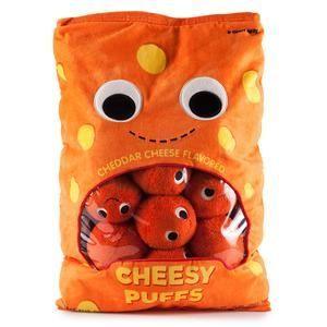 Yummy World XL Cheesy Puffs Interactive Food Plush
