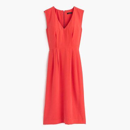 Sleeveless silk dress