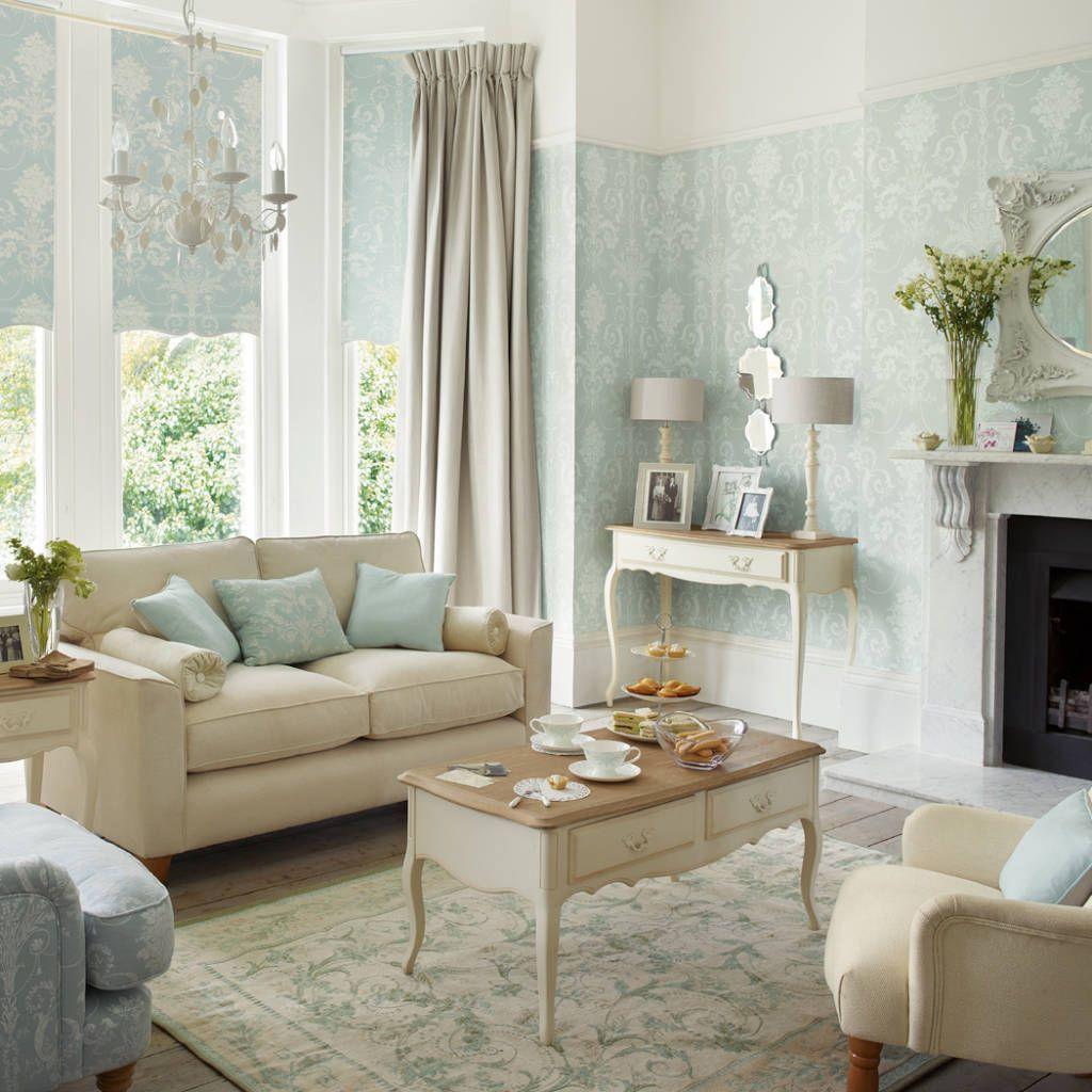 Fotos de salones de estilo clásico : salón josette azul verdoso ...