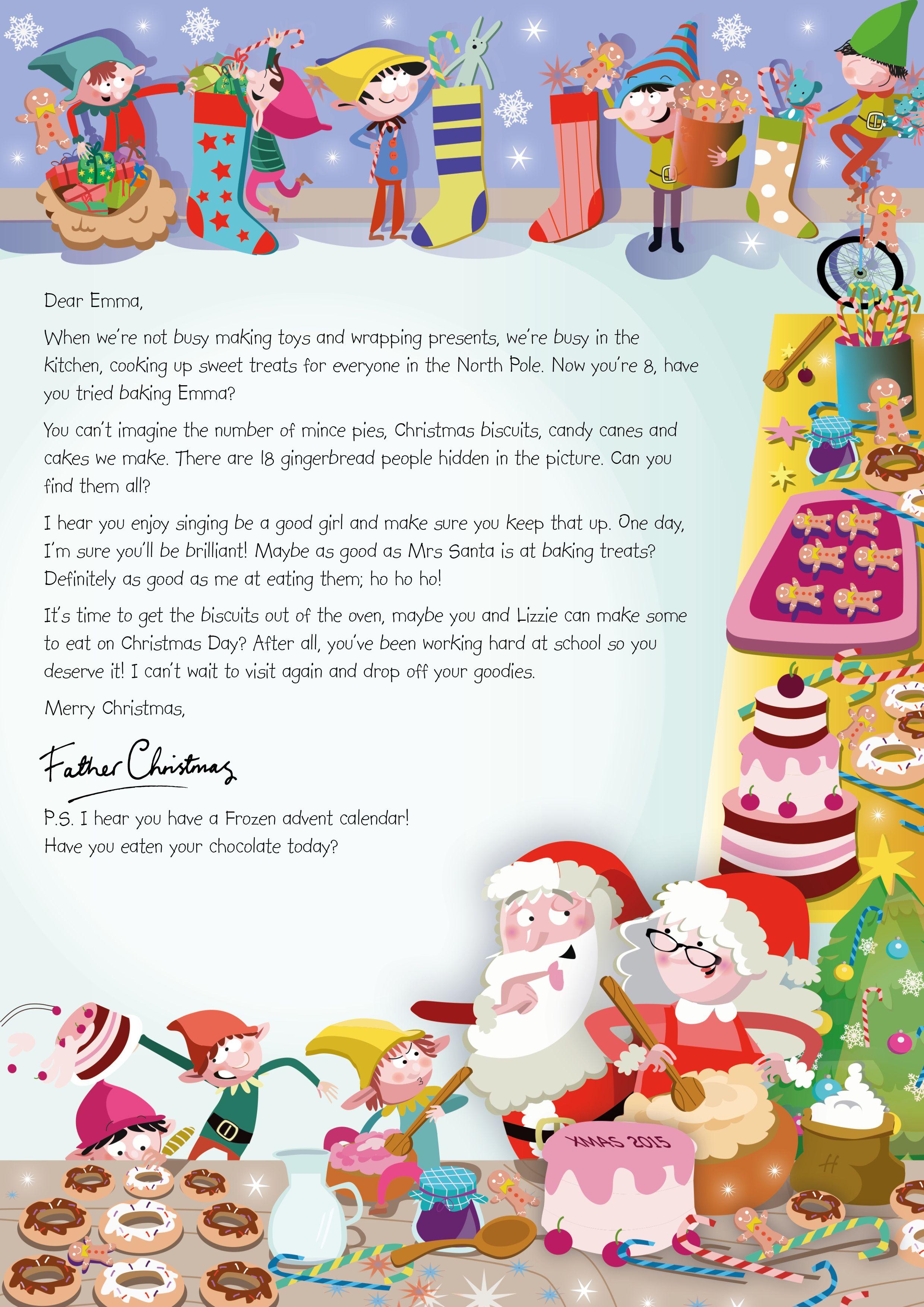 NSPCC Letter from Santa Christmas baking (2015) https