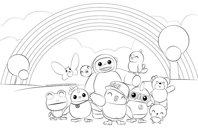Gambar Mewarna Didi Friends Drawings Of Friends My Little Pony Coloring Preschool Activities