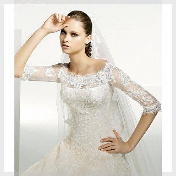 Brautkleider Schlicht Spitze Ärmel Erstaunliche | Brautkleider ...