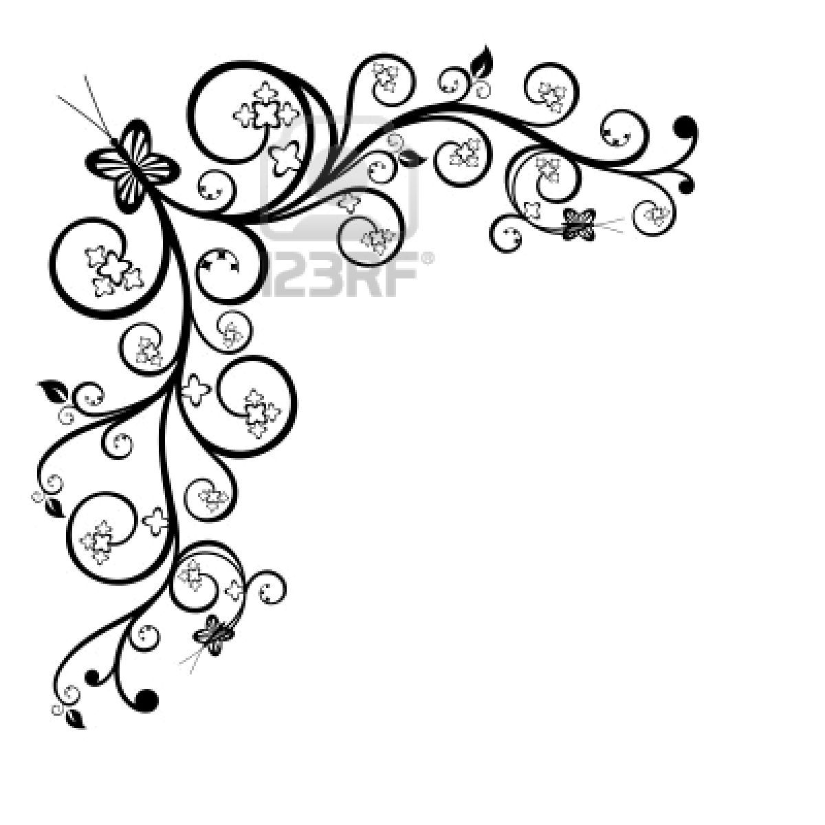 Cool black and white drawings frame clip art black and for Cool designs in black and white