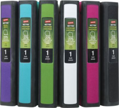 Staples Better Mini 1 Inch D 3 Ring View Binders Teal 20948 At Staples Mini Binder Binder Staples