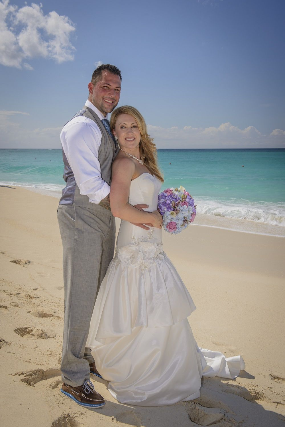 Intimate Cabbage Beach Wedding On Nau Bahamas