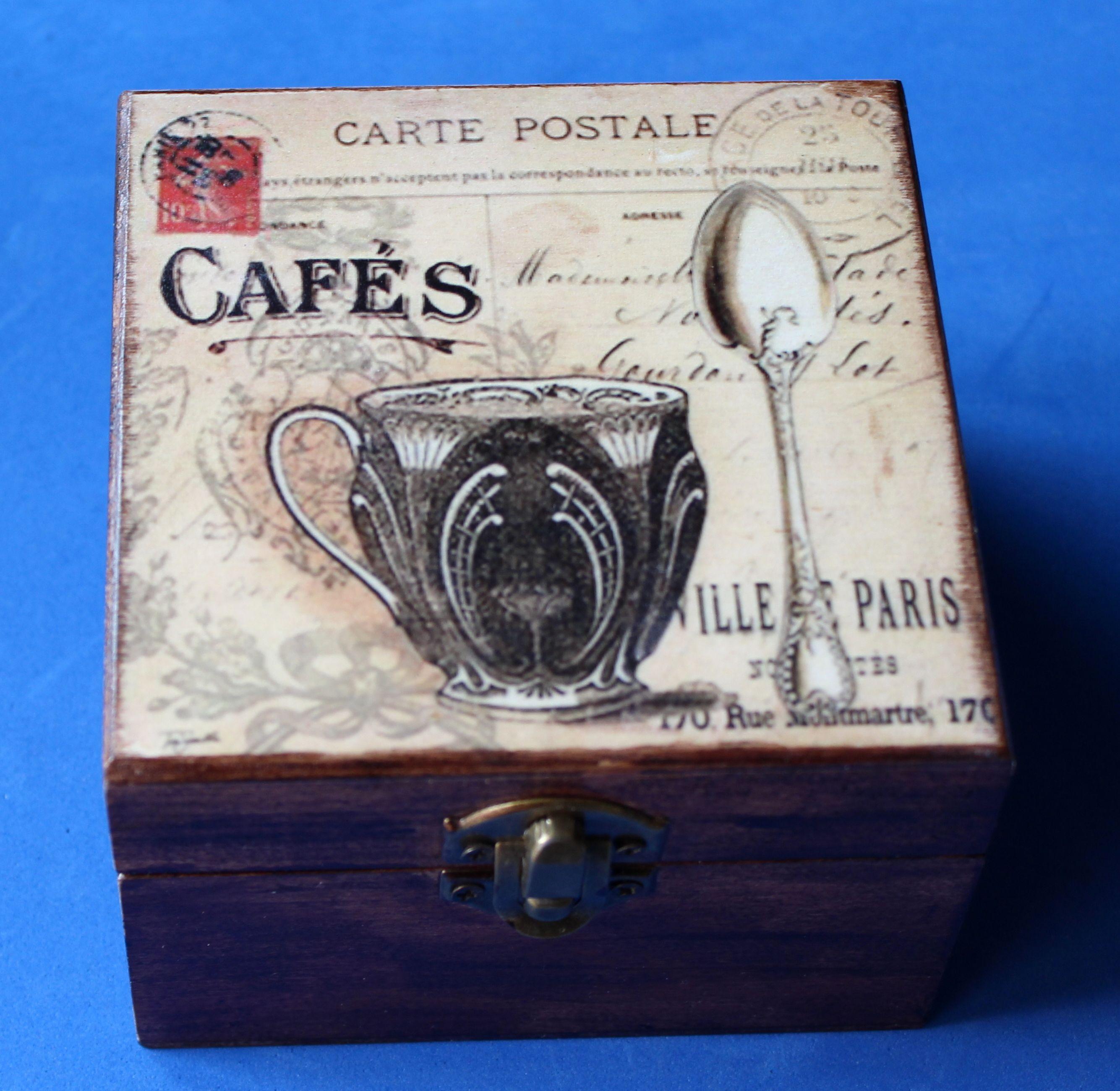 caja de madera decorada a mano - Cajas De Madera Decoradas