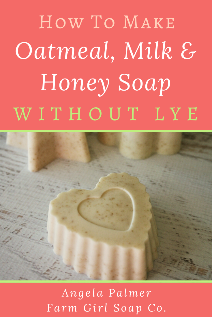 Learn How To Make Soap Without Lye With This Super Easy Oatmeal Milk And Honey Recipe It S The Perf Easy Soap Recipes Goat Milk Soap Recipe Milk Soap Recipe