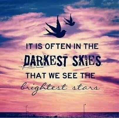 Dark skies,  bright stars