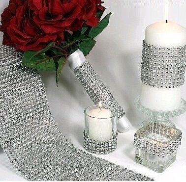 Cheap 24 righe di cristallo strass diamante corda catena del nastro di cristallo…