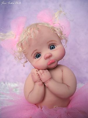 "❤OOAK HAND SCULPTED  BABY GIRL ""TULIP""   BY: JONI INLOW* DOLLY-STREET❤"