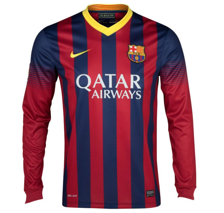online store 96f8b 40dce barcelona 13-14 long sleeve soccer jerseys # repin or like ...