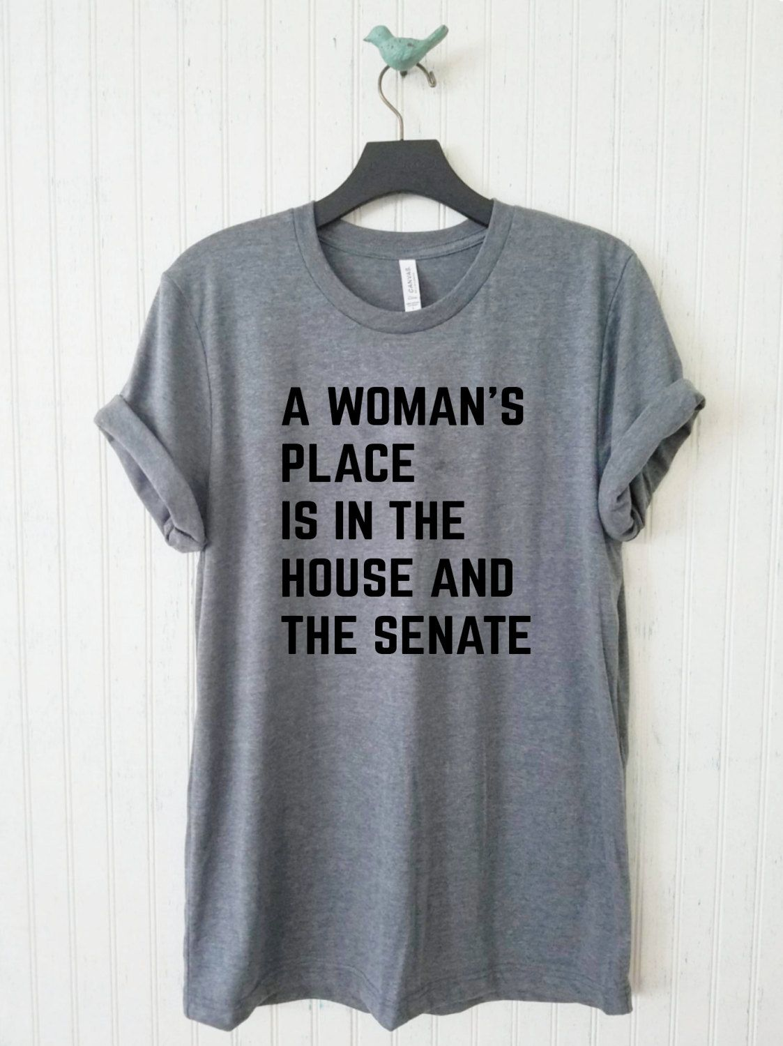A woman's place is in the house and the senate raglan baseball tee; tshirt; TShirt for woman S8q8AX1yi