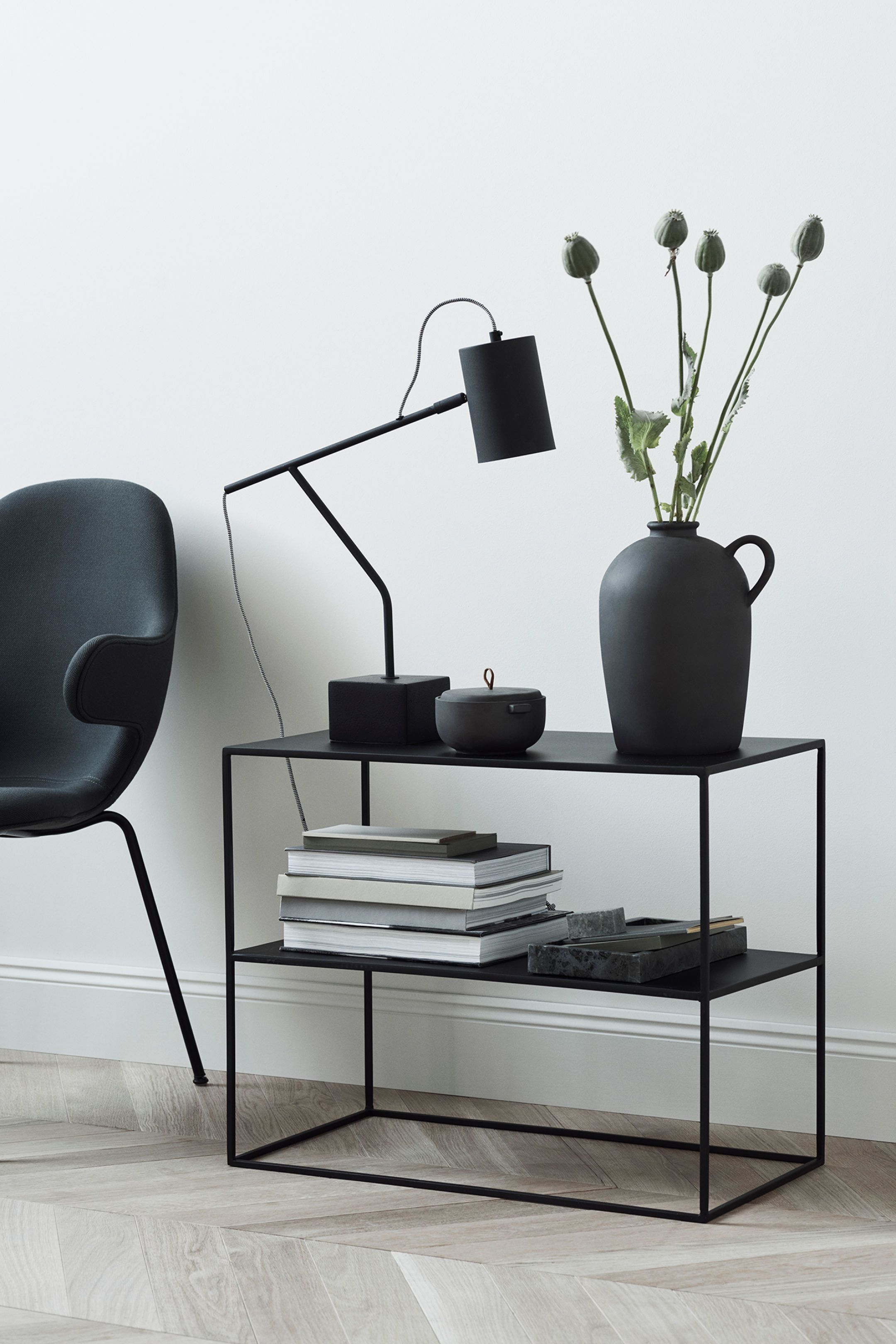 Stoneware Vase In 2019 Apartment Black Side Table Metal Side