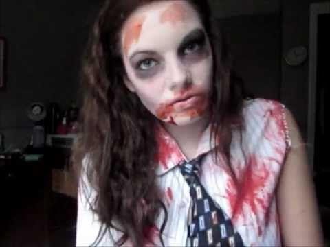 Zombie Halloween Makeup  DIY Costume! Fall and Halloween Ideas - zombie halloween ideas