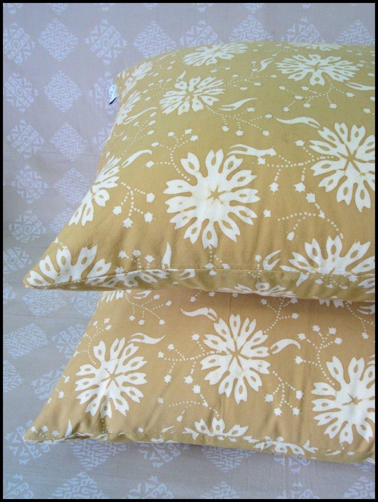 sun gold natural dye batik pillows modern global home decor at