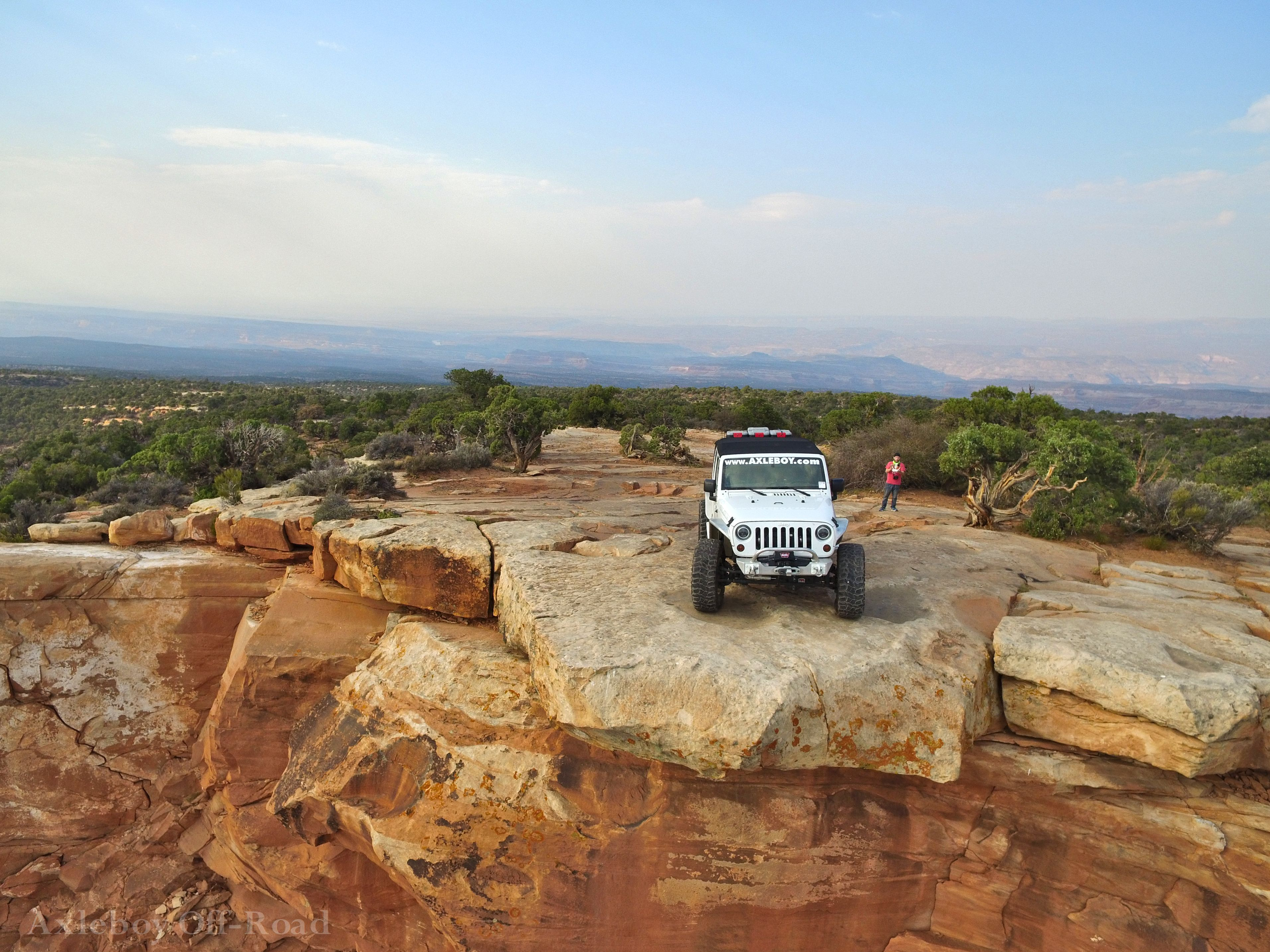 Axleboy Off Road Jeep On Top Of The World Trail At Moab Ut