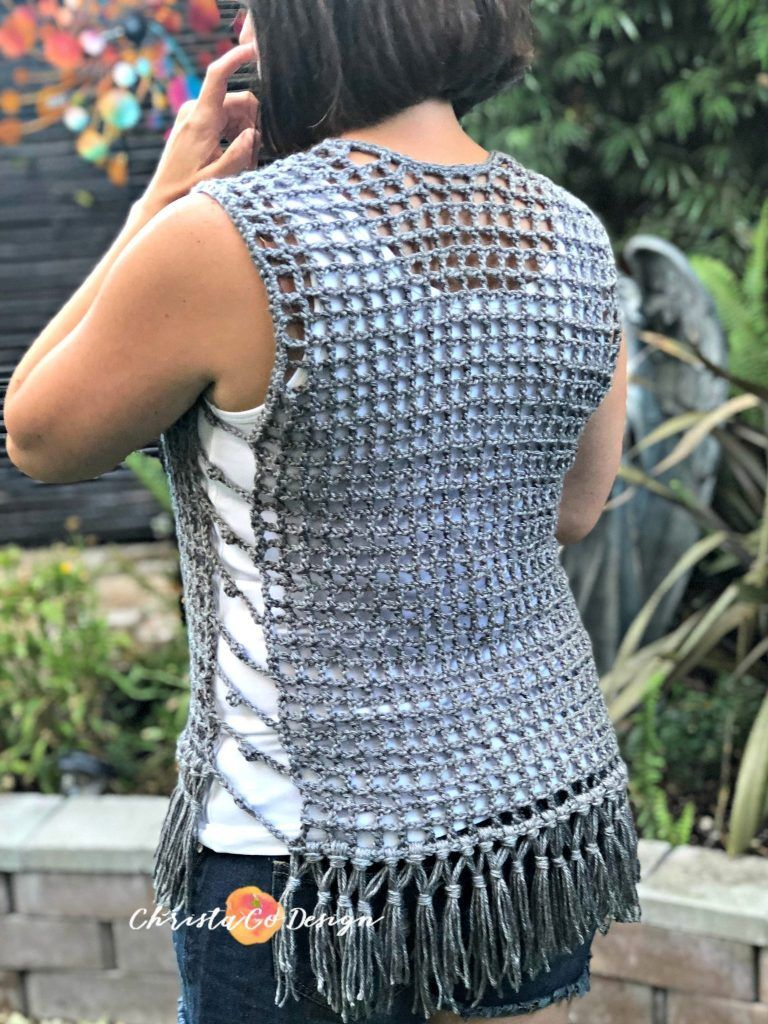 Photo of Maglia Crochet Mesh Vest Pattern – ChristaCoDesign