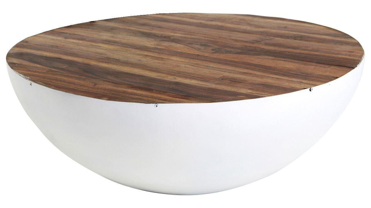 Salontafel iron rond wit cm in salontafels interior