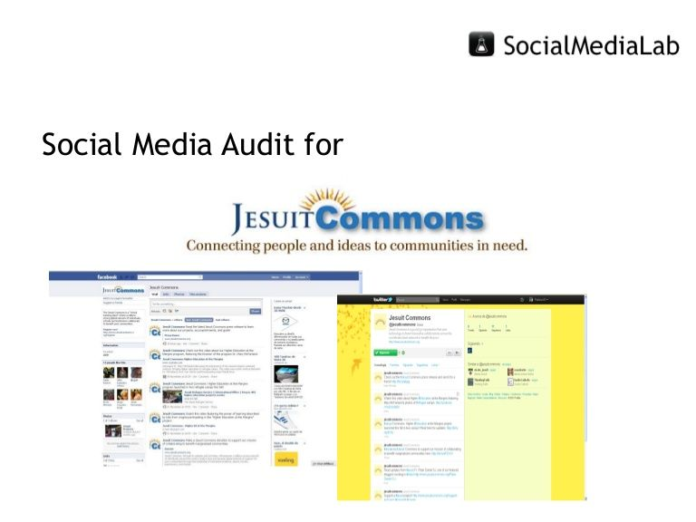 Social Media Audit Example  Social Media Audits