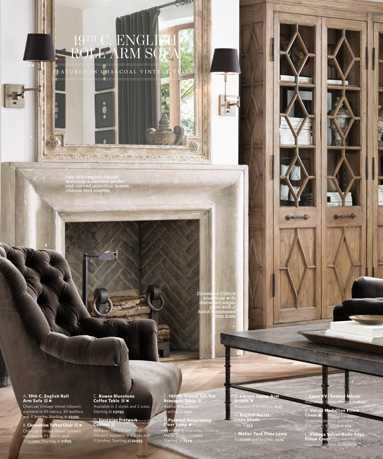 Restoration Hardware Fireplace But In Dark Grey Fireplace Surrounds Home Fireplace Restoration Hardware Bedroom