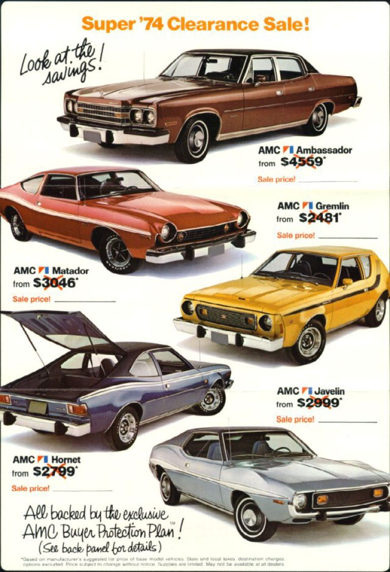1974 Amc Car Ad Vintage 1970s Car Ads Car Ads American Motors