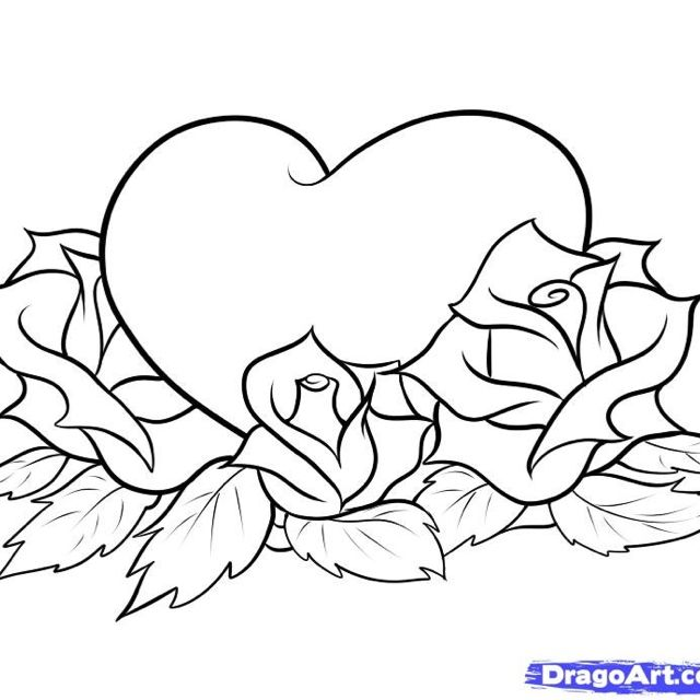 Pin By Aleyna Duenez On Sec 15 Heart Coloring Pages Love Coloring Pages Rose Coloring Pages