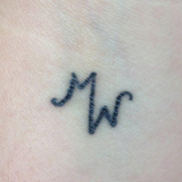 Tattoo of mine & my husbands initial 'M' & 'W',  Tattoo of mine & my husbands initial 'M' & 'W',