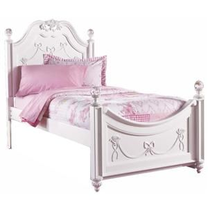 disney princess twin bed with rose details