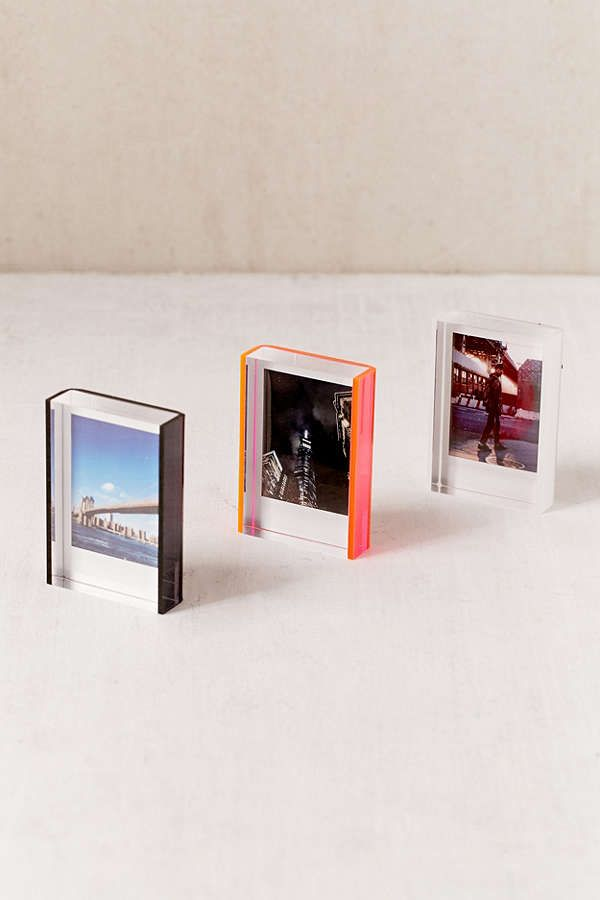 Mini Instax Acrylic Block Frame In 2020 Modern Picture Frames Instax Picture Frames