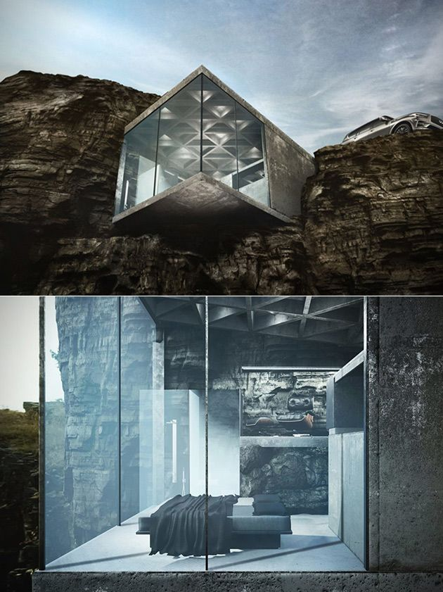 Glass House Architecture: Crazy Maralah Cliff House Is Perfect Of A Super Villain