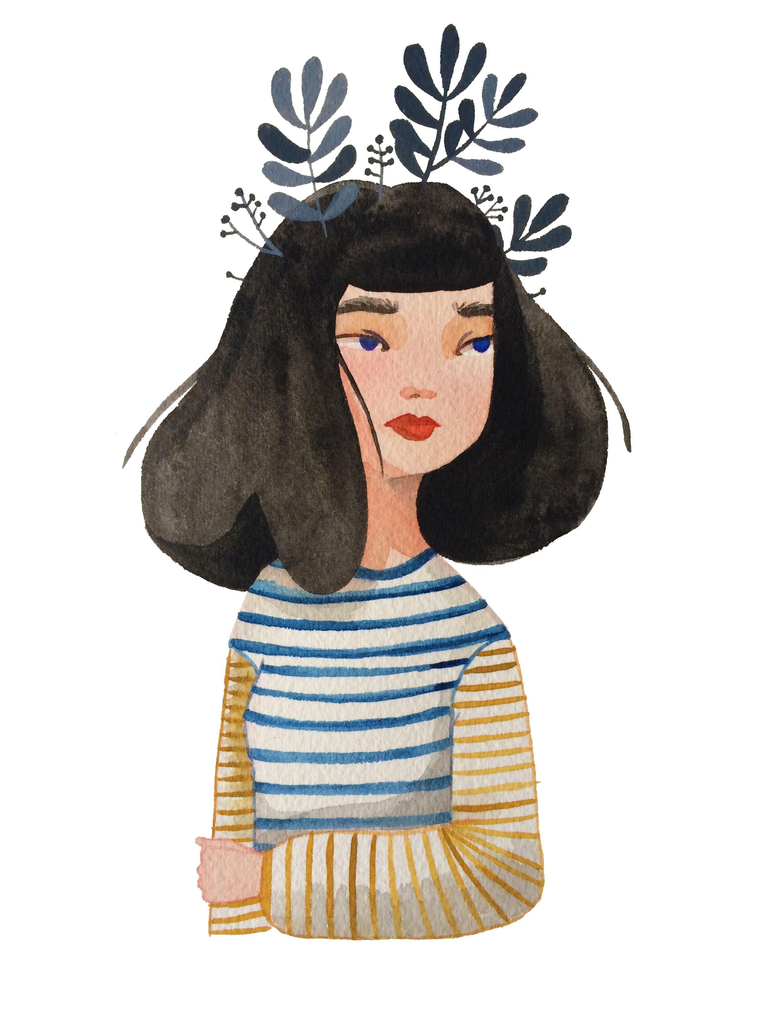 Stripes Laura Bernard Drawing Painting Nghệ Thuật