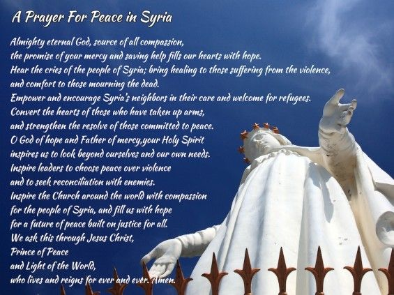 A Prayer For Peace In Syria