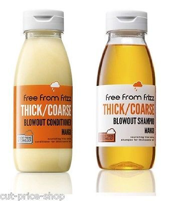 Free from Frizz: Blowout Mango Shampoo & Conditiner for Thick/Coarse Hair