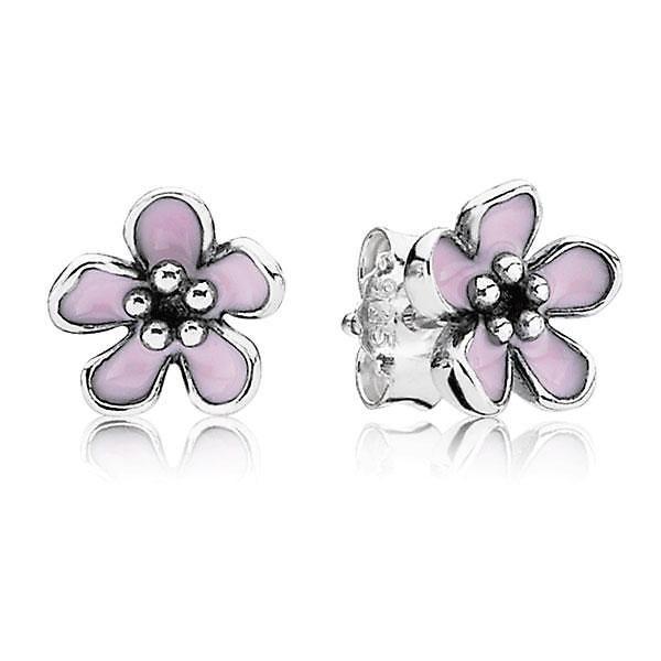 Pandora Cherry Blossom Stud Earrings Item 19305333 Pandora Earrings Studs Pandora Earrings Flower Earrings Studs