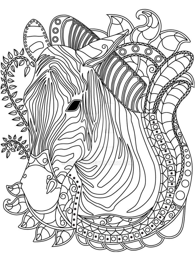GST kolorowanka Afryka cebra por QuaMiya | Animales 10 | Pinterest