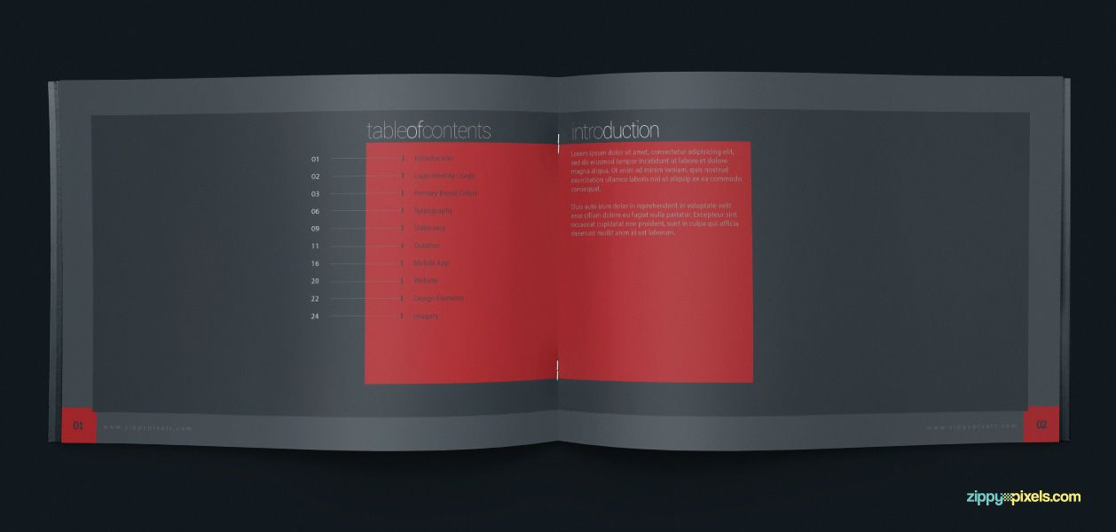 Brand Book Template for Corporate Guidelines | Brand book, Brand ...
